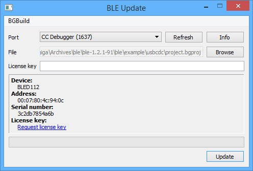 BLE Update Tool